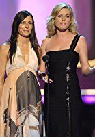 Famke Janssen and Rebecca Romijn at an event for 2006 MTV Movie Awards (2006)