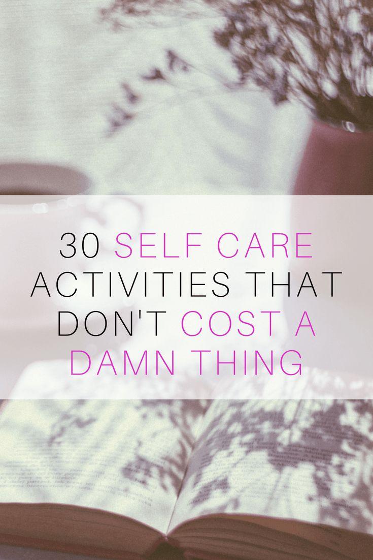 ideas for free self care