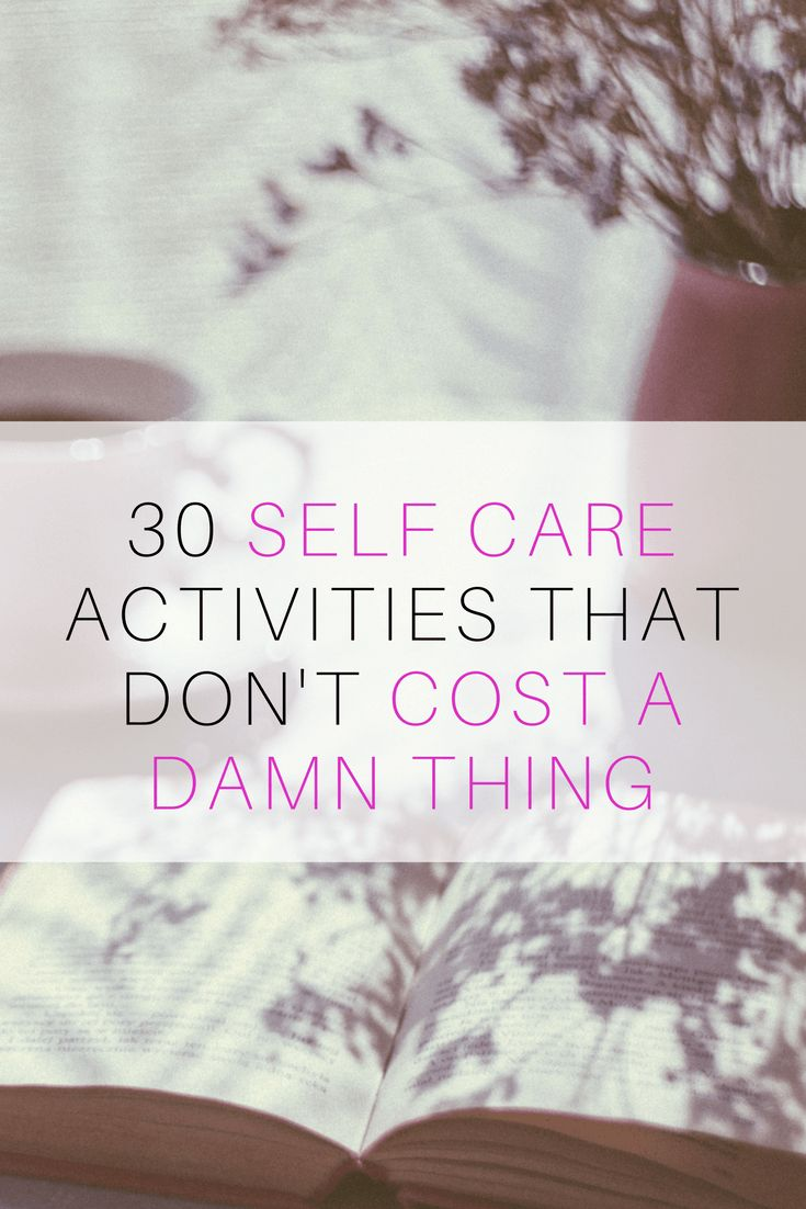 ideas for free self care