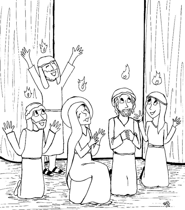 pentecost coloring pages for preschoolers - photo#12