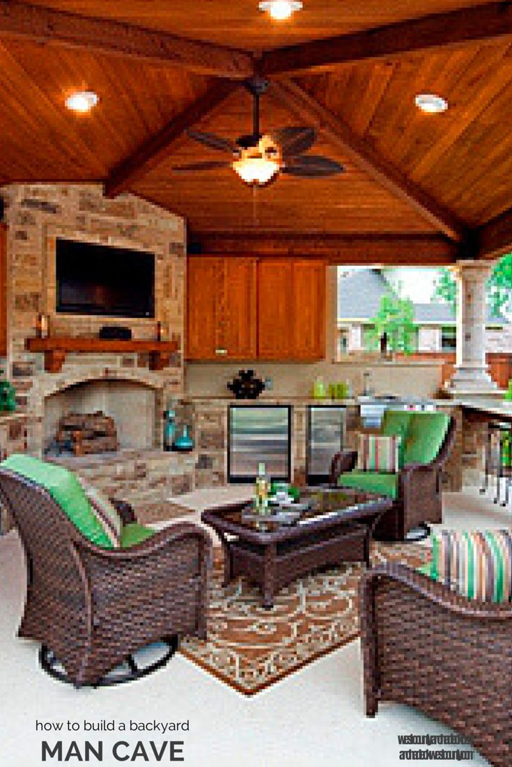 Man Cave Outside : Turn an open porch into outdoor room how to build a