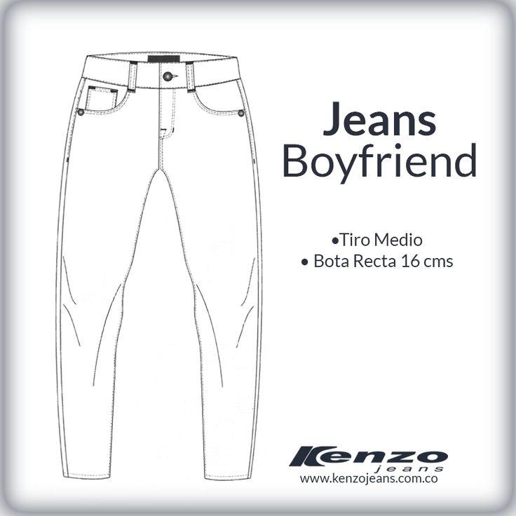 Jeans de corte masculino, holgados, con bolsillos bajos con un estilo muy urbano, con ellos puedes lucir totalmente moderna y a la moda. #KenzoJeans www.kenzojeans.com.co/fits/