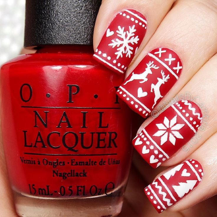 """Check out my entry to @opi_products & @preendotme #StarringMe challenge! Check out these beautiful fair isle nails! Not going to lie, these took me 2…"""