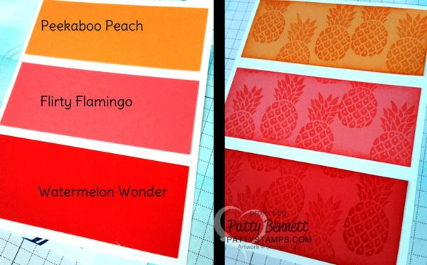 Color Blocking With Stampin Up In Colors Peekaboo Peach