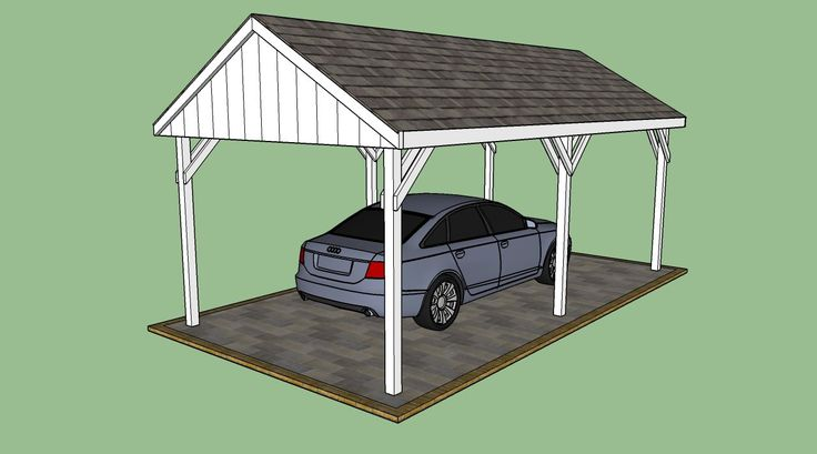 1000 ideas about carport plans on pinterest carport for Free standing carport plans