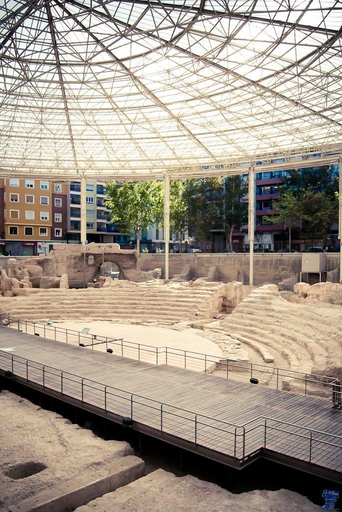Teatro romano de Zaragoza.