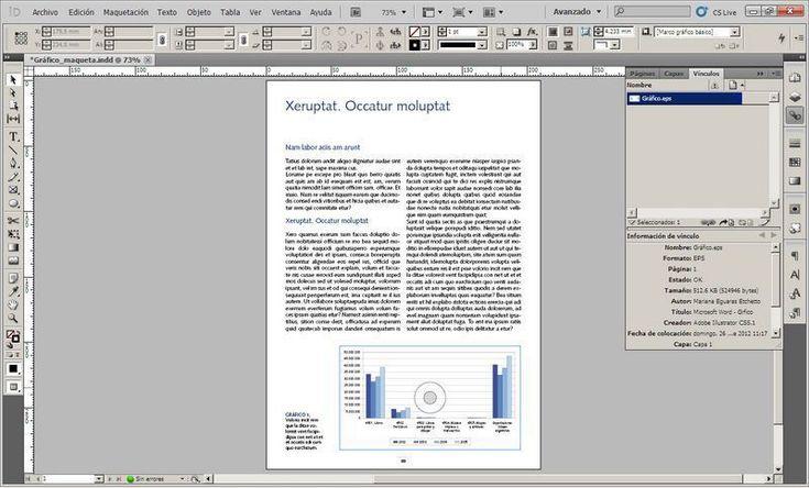 Trabajar con gráficos en Indesign: cómo transformar gráficos de Excel en archivos importables a Indesign (problema resuelto)