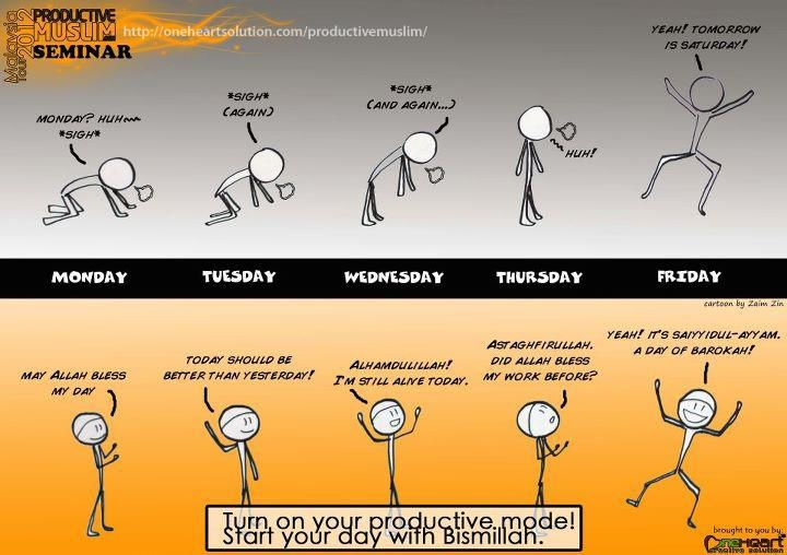Productive Muslim's week >> between the reality and how it should be