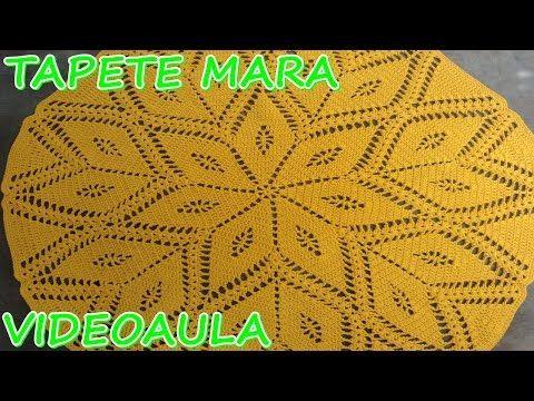 Croche Tapete Passadeira Borboleta parte 1 - YouTube