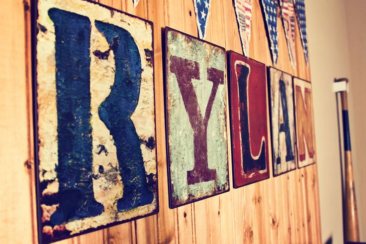 Baby Baker Love:  vintage baseball nursery Cool signs.. And actually kinda like that name.. It's different..