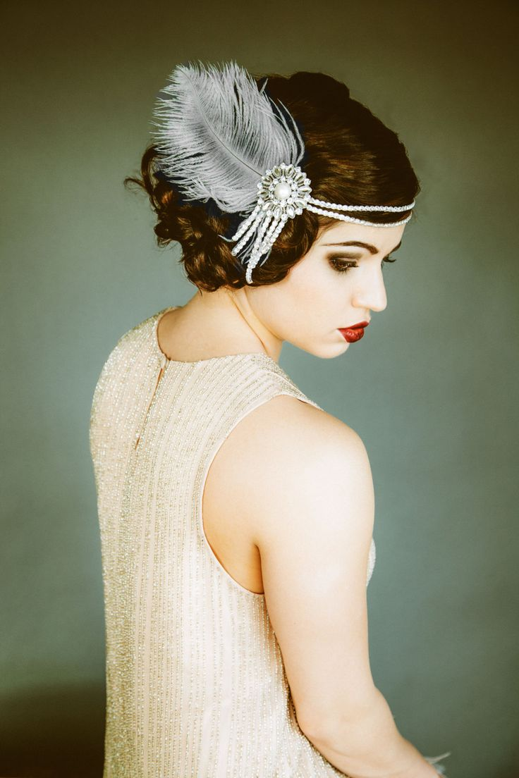 Flapper Headpiece, Vintage Inspired, Bridal Headband, The Great Gatsby, 1920s, 1930s, Party, Roaring
