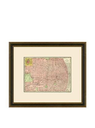 50% OFF Antique Lithographic Map of St. Louis, 1886-1899