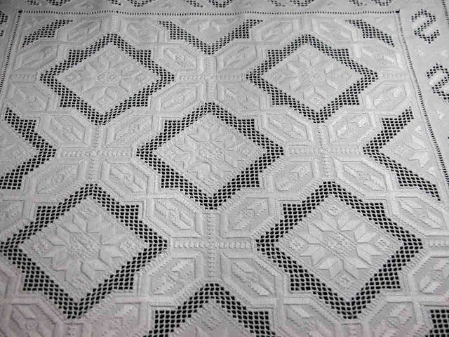 A Hardanger tablecloth.