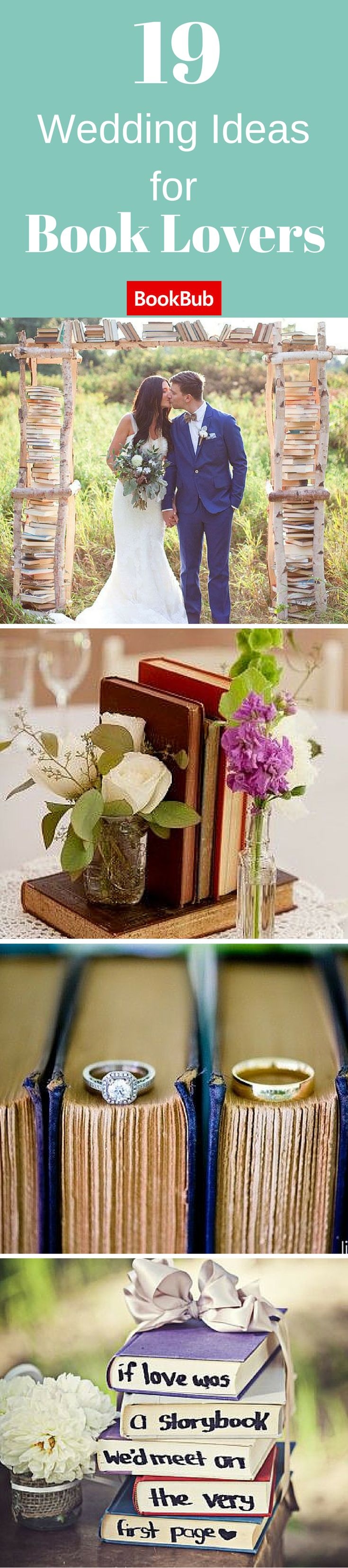 These unique wedding ideas show you how to incorporate books into celebration!