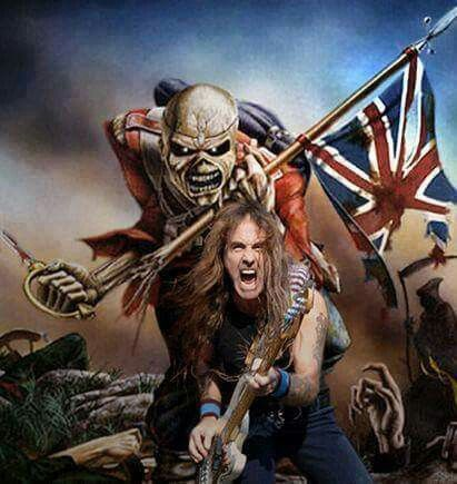 "You take my life and I'll take yours too....<<you fire your musket but I'll run you through.... (Steve Harris is an absolute legend. He has more metal in his right hand than most ""nu metal"" bands have in their whole body!)"