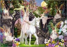 Garry Walton - Fairy Queen with Unicorn