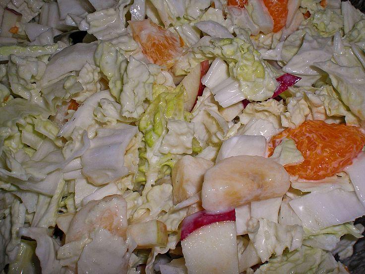 Chinakohlsalat mit Äpfeln und Mandarinen, ein sehr leckeres Rezept aus der Kategorie Früchte. Bewertungen: 15. Durchschnitt: Ø 4,2.