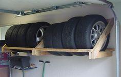 Wood tire rack
