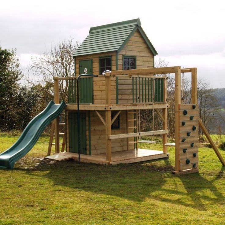 25 best ideas about outdoor playset on pinterest for Kids playhouse ideas