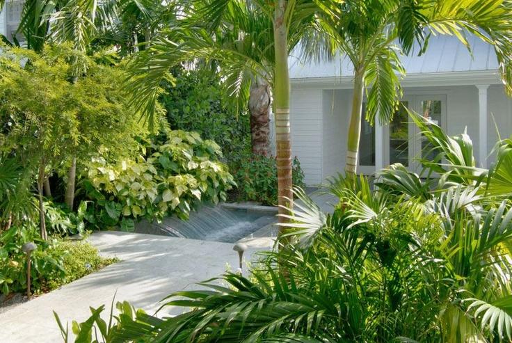 modern architecture - craig reynolds landscape architect - exotic island homes - exterior view - tropical garden