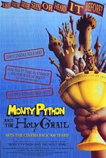 Monty Python and the Holy Grail is a 1975 British comedy film written and performed by the comedy group Monty Python (Graham Chapman, John Cleese, Terry Gilliam, Eric Idle, Terry Jones and Michael Palin), and directed by Gilliam and Jones.