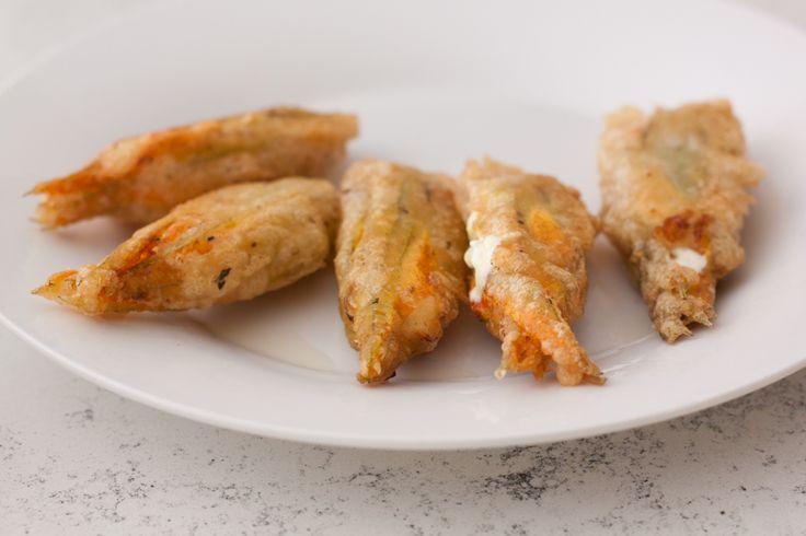 Fried Stuffed Zucchini Flowers