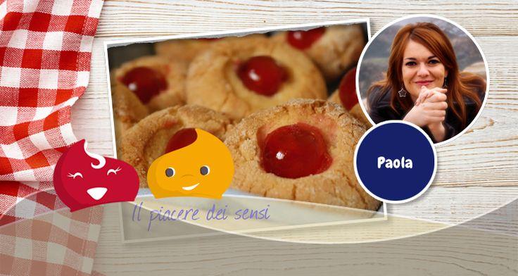Dolcetti al marzapane con ciliegie candite di Paola - Chiacchiere Dolci