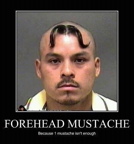 because one mustache isn't enough :): Laughing, Funnies Pictures, Mugs Shots, Funnies Pics, Whiskers, Humor, Mugshots, Funnies Stuff, Forehead Mustache
