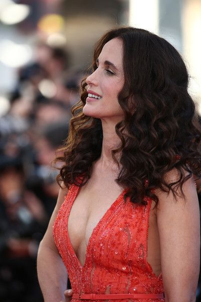 "Andie MacDowell Photos Photos - Actress Andie MacDowell attends the Premiere of ""Inside Out"" during the 68th annual Cannes Film Festival on May 18, 2015 in Cannes, France. - 'Inside Out' Premiere - The 68th Annual Cannes Film Festival"