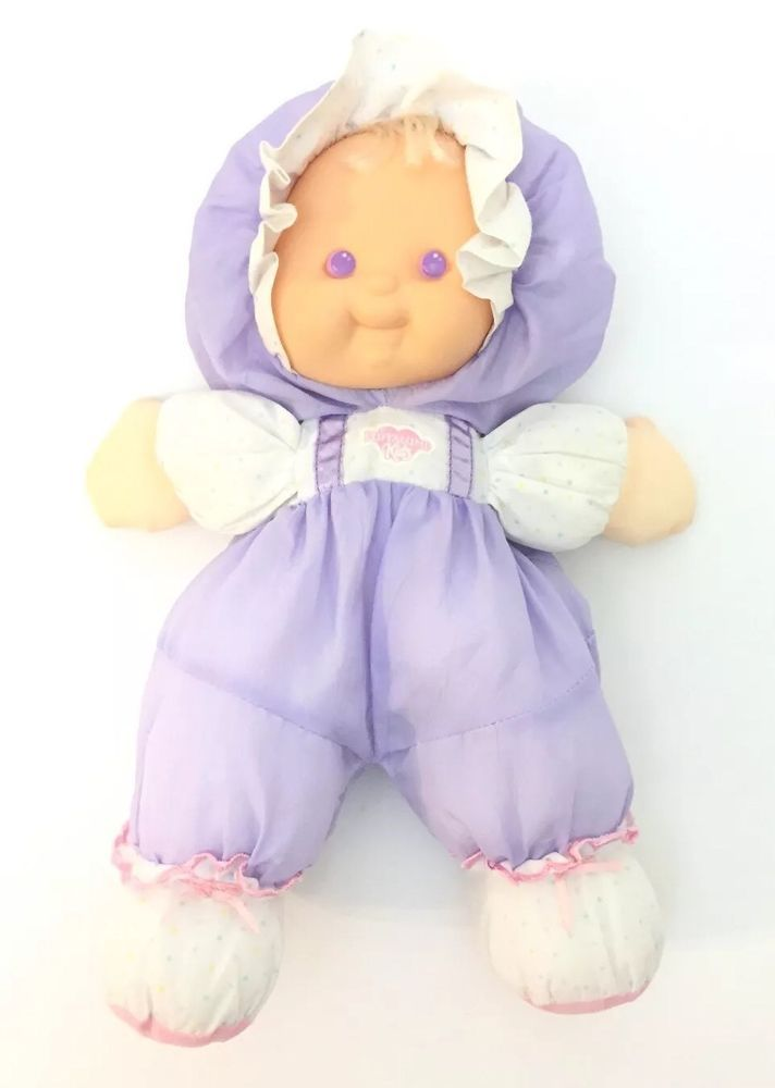 1990 S Fisher Price Puffalump Kids Lavender Purple Baby Doll Plush Toy 13 Ebay