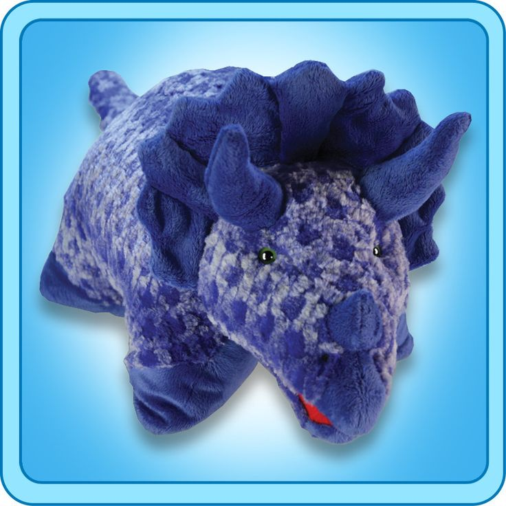 PeeWee Blue Triceratops | My Pillow Pets® Canada