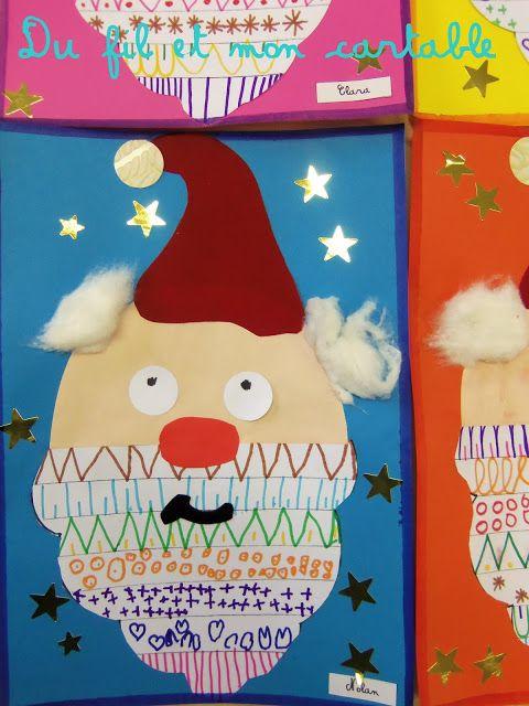 Du fil et mon cartable : Père Noël et Graphisme