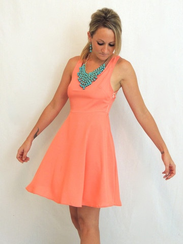 17 best images about coral dresses on pinterest for Jewelry to wear with coral dress
