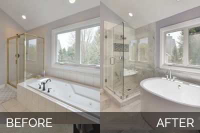 Doug & Natalie's Master Bath Before & After :http://www.sebringservices.com/portfolio/doug-natalie-aurora-master-bathroom-before-after/