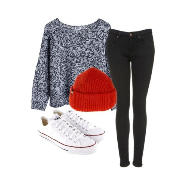 Cute winter outfit but with Vans instead of converse   Fall/Winter Clothes   Pinterest   Cute ...