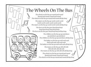 Nursery rhymes are a great way to introduce your child to rhythm, music and early literacy and numeracy skills. Print this nursery rhyme activity, so your child can have fun colouring in the picture and singing along to The Wheels on the Bus! You can also download our The Wheels on the Bus mp3.
