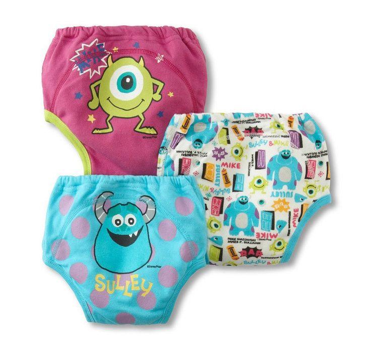 3 Pk New Unisex Potty Training Pants Baby Boy Kids Reusable Cartoon Characters