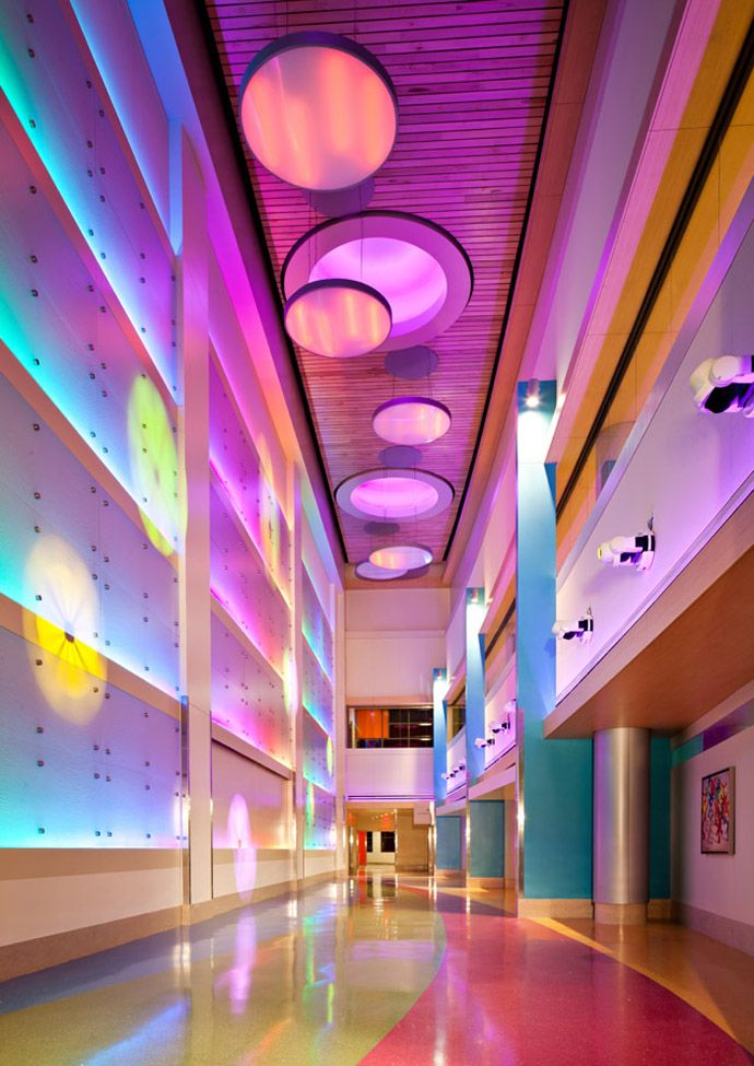 Arizona's Phoenix Children's Hospital by HKS Architects. If hospitals were this cool, I'd love to get sick all the time!