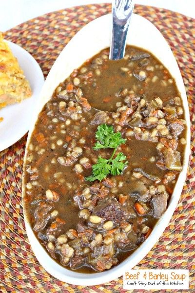 Beef and Barley Soup | Can't Stay Out of the Kitchen | we LOVED this wonderful #soup. It's a great meal on cold winter nights. #beef #barley