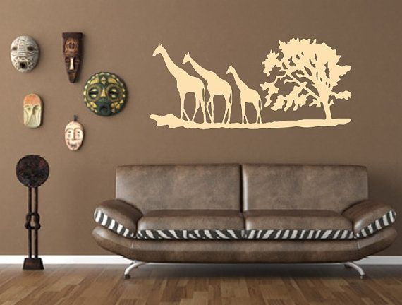 Best Vinyl Wall Decals By Cuttin Up Custom Die Cuts Images On - Wall decals animalsafrican savannah wall sticker decoration great trees with