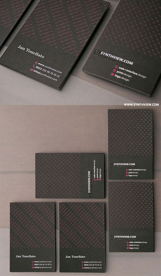 65 Minimalist Vertical Business Card Designs | iBrandStudio