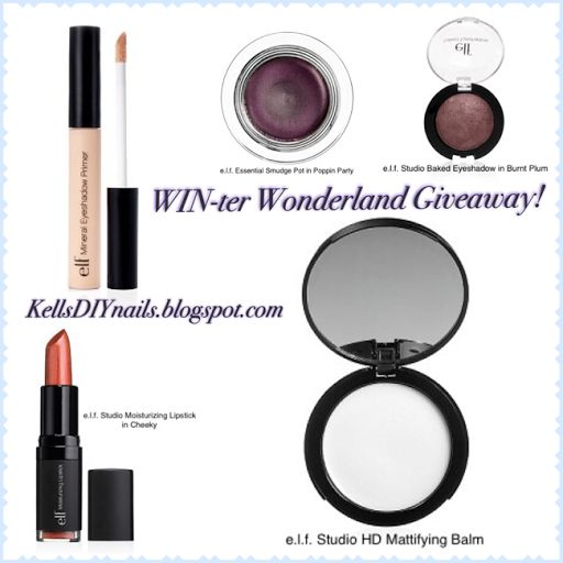 Kell's DIY Nails: WIN-ter Wonderland: e.l.f. Cosmetics Review and Giveaway! Click thru to Enter! #KellsDIYnails #WINterWonderland #Giveaway #WinIt #elfCosmetics #Cosmetics #Makeup #Blog #Blogger #BBlogger #Beauty