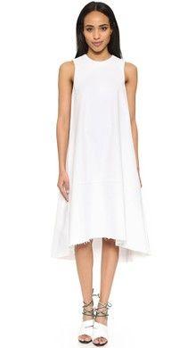 Vince Льняное платье с длинными рукавами | SHOPBOP