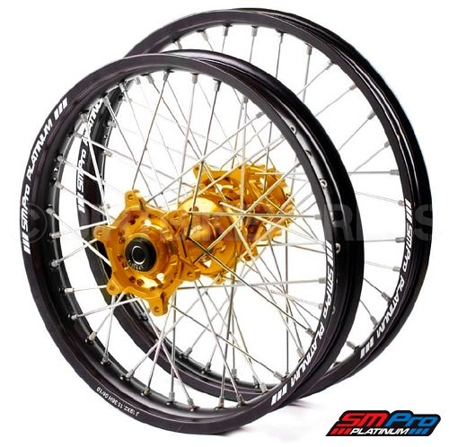 SM Pro Platinum Motocross Wheel Set - Suzuki
