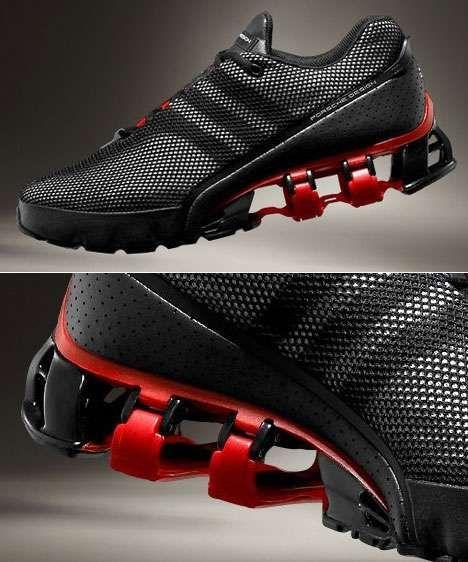 los zapatos,negro rojo