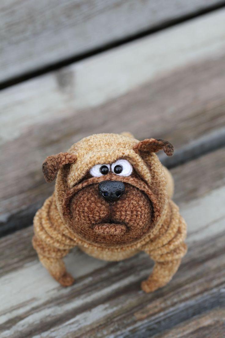 Knitted Pug | Вязаный мопс Венедикт — Купить, заказать, мопс, игрушка, вязаный, вязание, вязание крючком, ручная работа