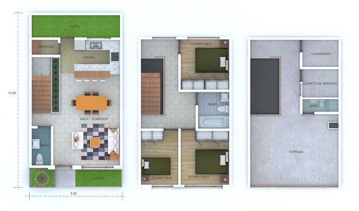 Idea para construir casa en lote pequeño | Construye Hogar