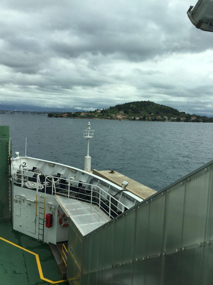 On the ferry via Preko to Zadar. We need hardware supplies ..... Yet again