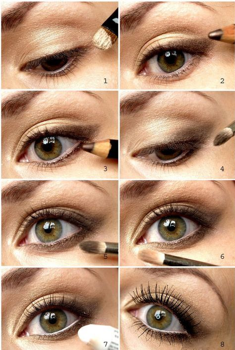 Smokey Eyes Schminken Mit Stift Golf Grune Augen Beauty Makeup
