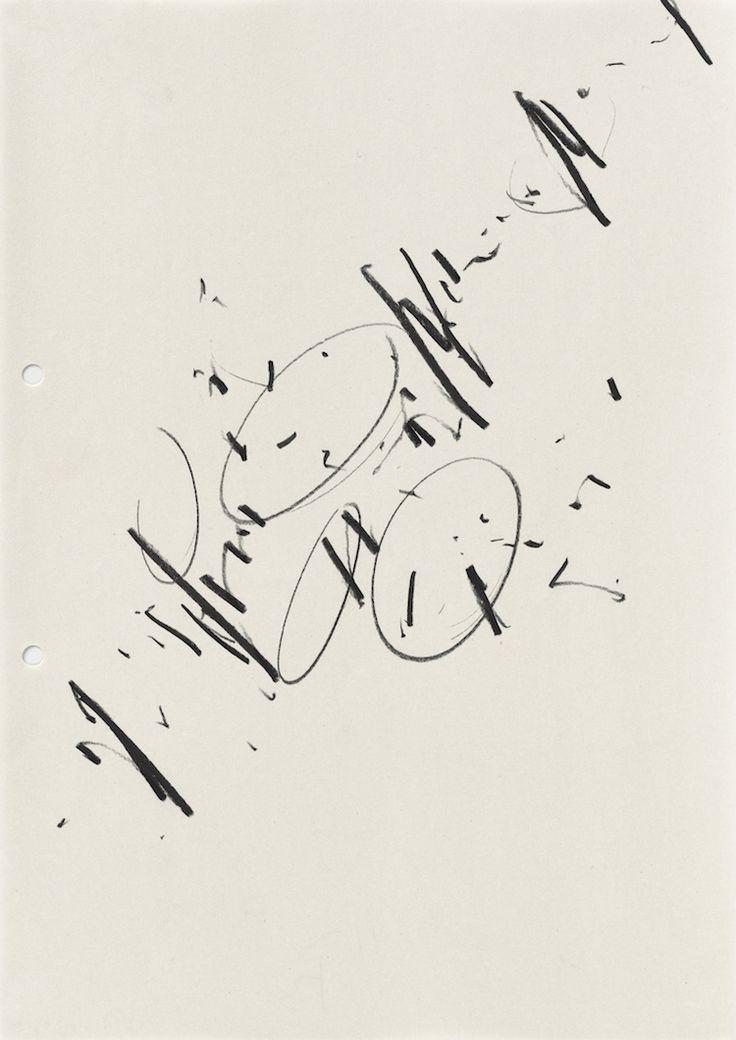 IMI KNOEBEL / Une exposition historique à DRAWING NOW PARIS du 29 mars au 03 avril 2016. Ohne Titel, 1972 Graphite sur papier, 29,7 x 21 cm / encadré 38,7 x 30 cm